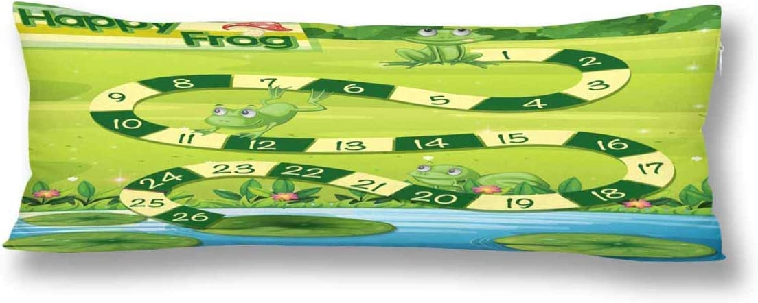JamirtyRoy1 Body Pillow Cover, Green