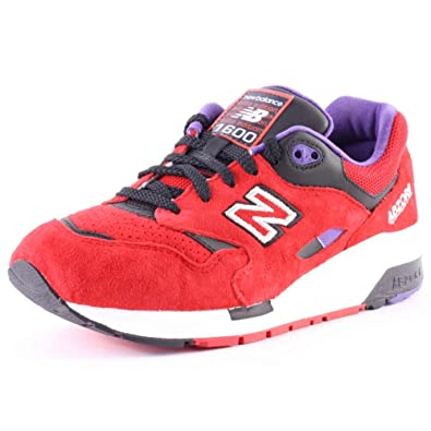 5fd198a2501ac New Balance Men s CM1600 Classics Red with Black   Purple Running Shoe ...