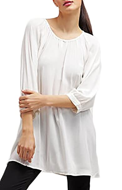 best cheap 0ed41 d9d2a Saoye Fashion Donna Camicia Lunga Elegante Manica Lunga ...