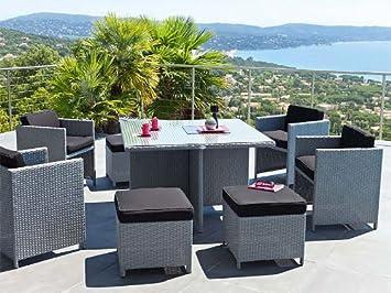 Table et fauteuils de jardin Hespéride MAYOTTE: Amazon.fr ...