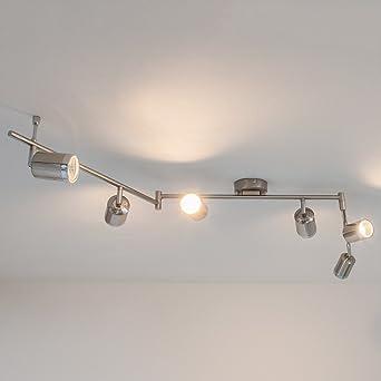 led-deckenleuchte jarne 6-flammig hell deckenlampe küche flur led ... - Deckenleuchte Led Küche