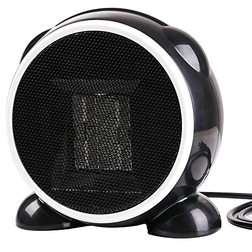 Portable Heater,Eden Babe Hand Warmer Mini Desktop Heater Electric Oscillating Heater Cool Black Heater for Home and Office Indoor - Indoor Heater Black