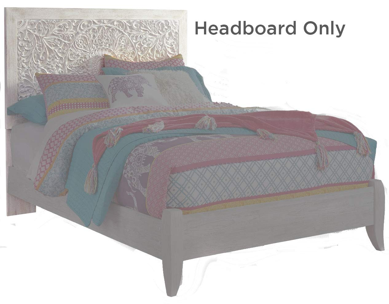 Signature Design By Ashley - Paxberry Full Panel Headboard - Whitewash by Signature Design by Ashley