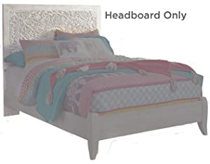Signature Design by Ashley B181-87 Paxberry Full Panel Headboard, White Wash