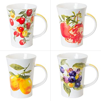 6 Mug 48 Xxl Fruits De Trend'up Assortis ClLot Porcelaine wOnXP80k