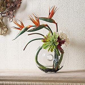Potelin Premium Quality Artificial Flower Bird Of Paradise Fake Plant Silk Strelitzia Reginae Home Decor - Orange 3