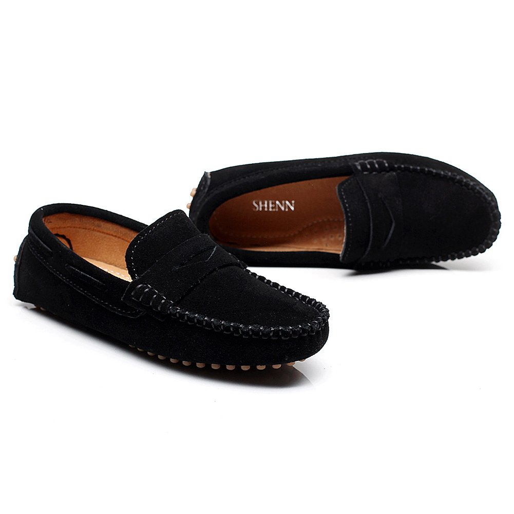 757c468d912 Shenn Boys  Cute Slip-On Suede Leather Loafers Shoes S8884   Loafers    Clothing