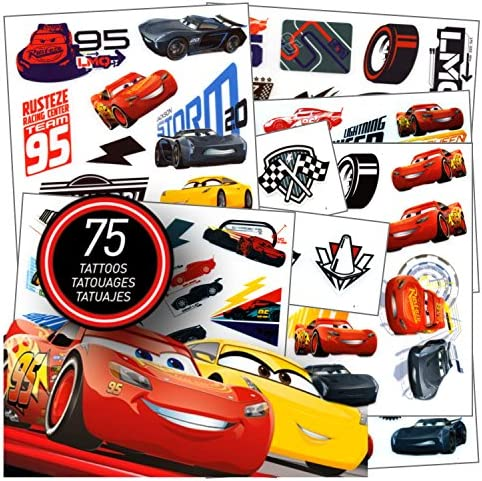 Cars Tattoos 75 Assorted Temporary product image