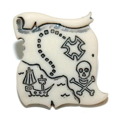 Amazon.com: Pirata Calavera Mapa del tesoro Tie Pin Tack ...