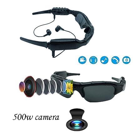 HUOFEIKE 500W cámara de Video Gafas de Sol, 1080p Video MP3 ...