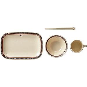 ロゴス ナバホ パーティー箸付き食器セット(4人用) 81285000