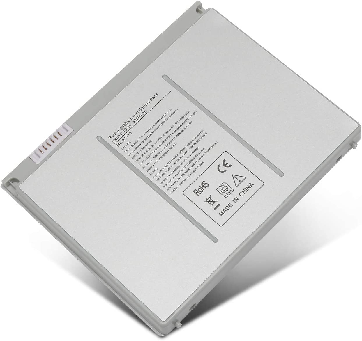 SOLICE A1175 A1260 A1211 A1226 A1150 (only for 2006 2007 2008 Version) New Li-ion Laptop Battery for Apple MacBook Pro 15 inch MA348 M6099 MA348/A MA348G/A MA348J/A Laptop [10.8V 5800Mah]