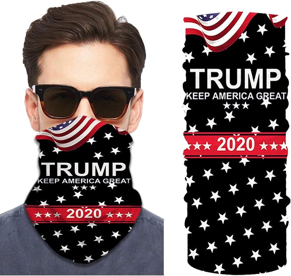 Trump 2020 Neck Gaiter, Multifunctional Balaclava Headband Scarf Comfortable Bandana for Camping Motorcycling Fishing