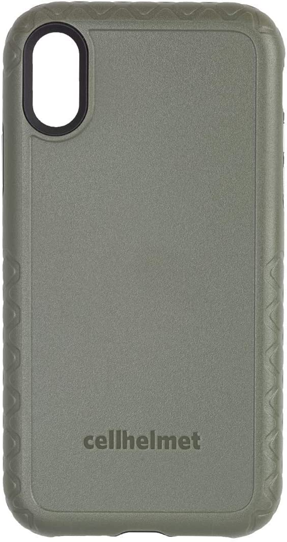 cellhelmet Fortitude Pro Series ODG/Olive Drab Green/Tactical Green Dual Layer Phone Case for Apple iPhone Xs/X | $300 Repair Guarantee | As Seen on Shark Tank | in Retail Package