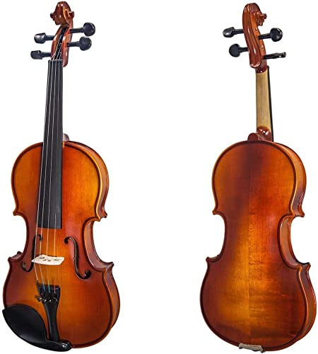 Paititi Solid Wood Ebony Fitted Violin with Bow