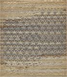 Unique Loom Eden Outdoor Collection Beige 10 x 12 Area Rug (10' x 12')