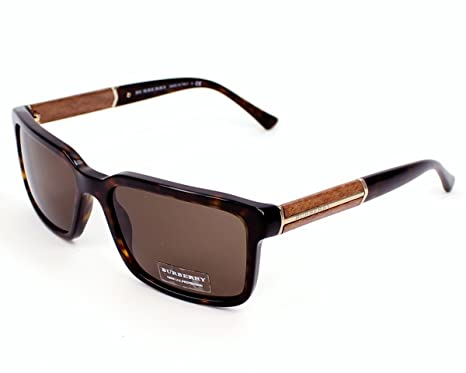 724caaa2902c Burberry Men s 4158 Dark Tortoise Frame Brown Lens Plastic Sunglasses