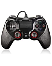 BuFan Controller USB per PS4, Joystick a Doppia Vibrazione Shock con 1,8 M USB Cavo per PC Playstation 3/4 / PS4 Slim / PS4 Pro