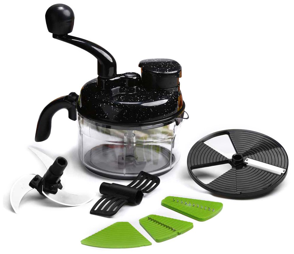 Wonderchef Turbo Dual Speed Food Processor with Peeler (Black)
