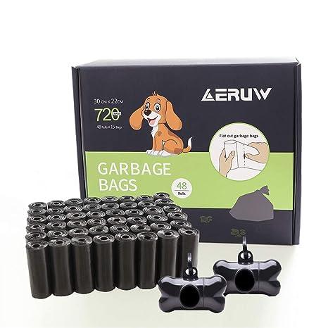 Bolsas caca perro, Bolsas para excrementos de perro, Dispensador Bolsas perro Biodegradables, Poop Bag para Mascotas Domésticos de 48 Rollos, Total ...