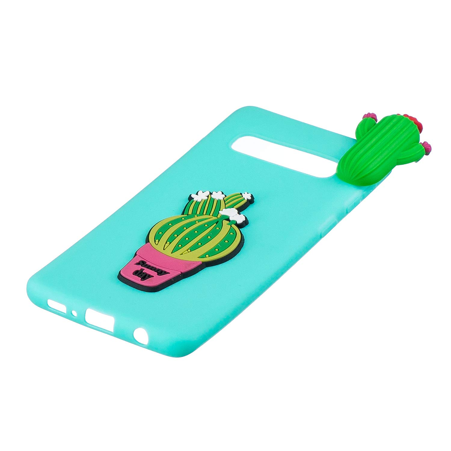 TPU Case for Samsung Galaxy S10,Moiky Funny 3D Cactus Design Ultra Thin Soft Silicone Resistant Back Cover Phone Case Unique Style Protect Case by MOIKY (Image #4)