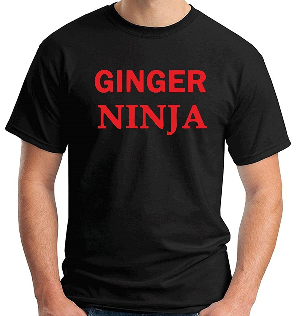T-Shirt Hombre Negro TR0053 Ginger Ninja 25MM 1 Pin Badge ...