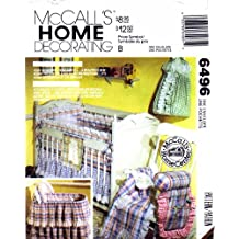 McCall's 6496 Sewing Pattern Baby Nursery Bumpers Diaper Stacker Bassinet Cover