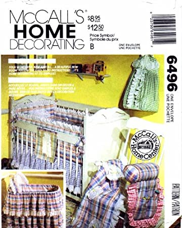 Amazon.com: McCall\'s 6496 Sewing Pattern Baby Nursery Bumpers Diaper ...
