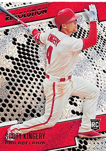 - 2018 Panini Chronicles Revolution Rapture #10 Scott Kingery Philadelphia Phillies Blaster Exclusive Trading Card