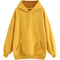SOLY HUX Women's Drawstring Hoodies Plaid Checkered Long Sleeve Pocket Pullover Sweatshirt