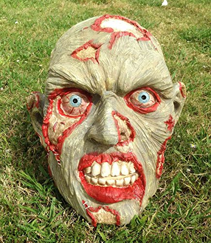 LARGE GARDEN INDOOR OUTDOOR ZOMBIE HEAD SKULL SUPER OVERSIZED STATUE SCULPTURE]()