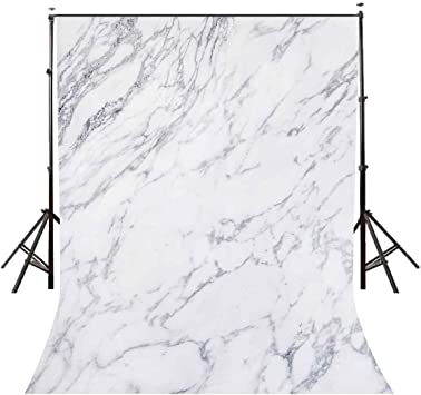 Little Lucky 8x8ft Natural Marble Photography Backdrop Texture Pattern Stones Photo Background for Photographer Shoot Studio Prop