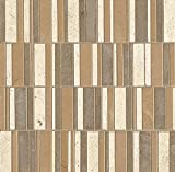 Bedrosians LMNSOLTDE-126 ''Limestone'' Solitude Listello Blended Mosaic, 12'', Mix