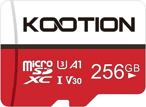 KOOTION Tarjeta de Memoria Micro SD 256GB Clase 10(U3 V30 A1 ...