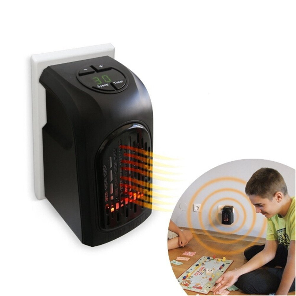 Baring Portable Space Heater-Mini Heater with Adjustable Thermostat, Hot & Cool Fan Oscillating Indoor Heater with Overheating & Tip-Over Protection for Table Desk Floor Office Home Use