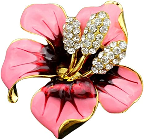 Elegant Rose Fleur Strass Fashion Jewelry vêtement accessoires Broche