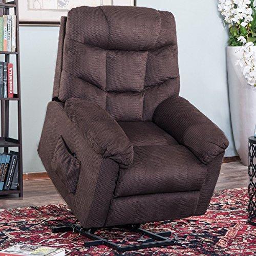 (Harper&Bright Designs (Espresso Power Lift Recliner Soft Fabric Living Room Sofa Chair)