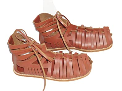 5217cc03cf6 VTC Medieval Roman Leather Caligae Viking Sandals with Super Quality (7)  Brown