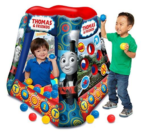 Thomas & Friends Ball Pit, 1 Inflatable & 20 Sof-Flex Balls, Blue/Red, 37