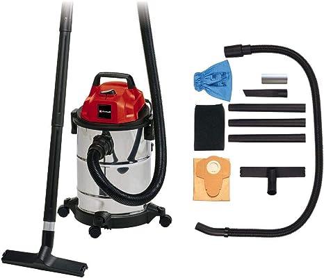 Einhell TC-VC 1820 S - Aspirador seco - húmedo, inox, 180 mbar, 1250 W, 230 V, 80 dB (ref. 2342167): Amazon.es: Bricolaje y herramientas