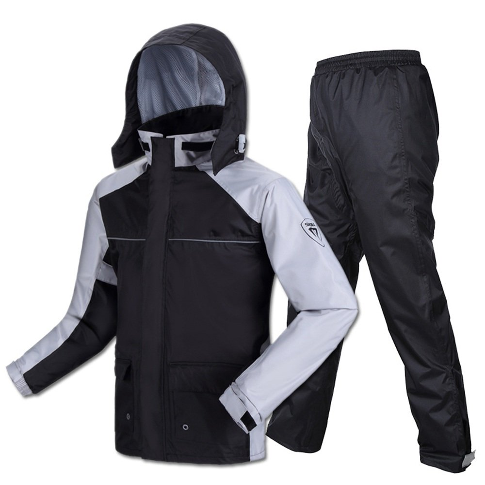 grand Veste de Pluie avec Pantalon pour Hommes Set Hommes Lumière Split Randonnée Adulte Randonnée Extérieur Imperméable Pantalon de Pluie (Taille   XL)