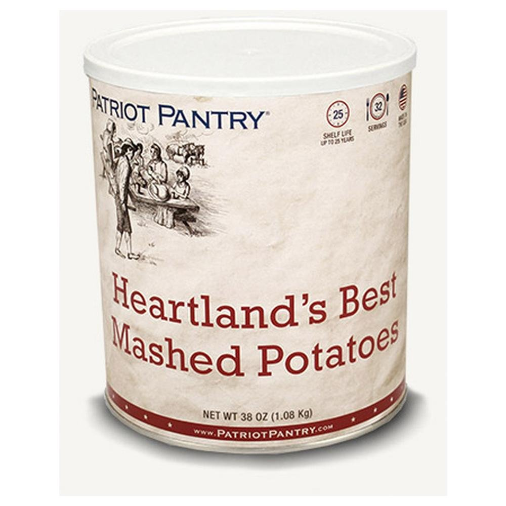 Patriot Pantry Heartland's Best Mashed Potatoes (32 servings) #10 Can Bulk Emergency Storage Food Supply, Up to 25-Year Shelf Life