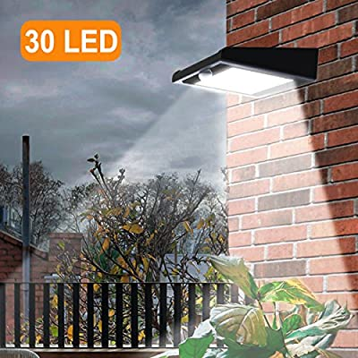 30 LED Solar Light Outdoor, Super Bright Iextreme Solar Motion Sensor Lights, Wireless Waterproof Security Lights with 120 Degree Wide Angle Illumination for Wall…