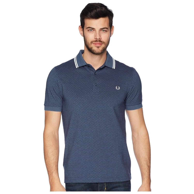 (フレッドペリー) Fred Perry メンズ トップス ポロシャツ Geometric Print Pique Shirt [並行輸入品] B07F9MPJK4   Large