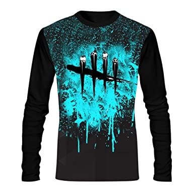 70de3cce Amazon.com: WWWLONG Day Dead Light Men's Tees 3D Pattern Printed Casual Long  Sleeve T Shirt Comfortable Tee Shirt: Clothing