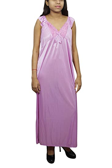 13f4e9d193 Indiatrendzs Women Satin Nightwear Solid Bedroom Wear with Robe 2pc Set  Pink  Amazon.in  Clothing   Accessories