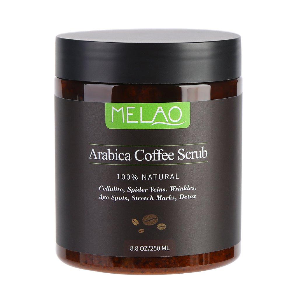 Scrub al caffè Arabica naturale con caffeina Stimolare la circolazione sanguigna Anti Cellulite Ridurre la vena del ragno su smagliature contro macchie di età rughe Disintossicazione scrub esfoliante Sonew