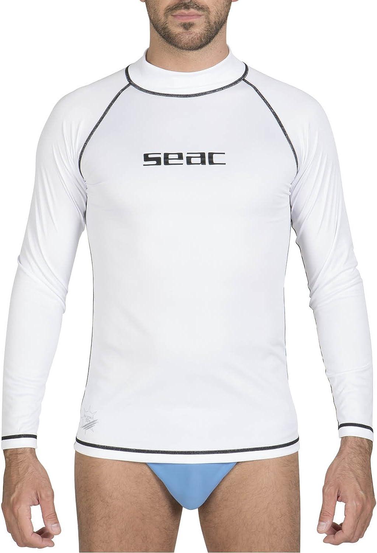 SEAC T-Sun Camiseta de protecci/ón Rash Guard para esnorkel y nataci/ón Anti UV Hombre