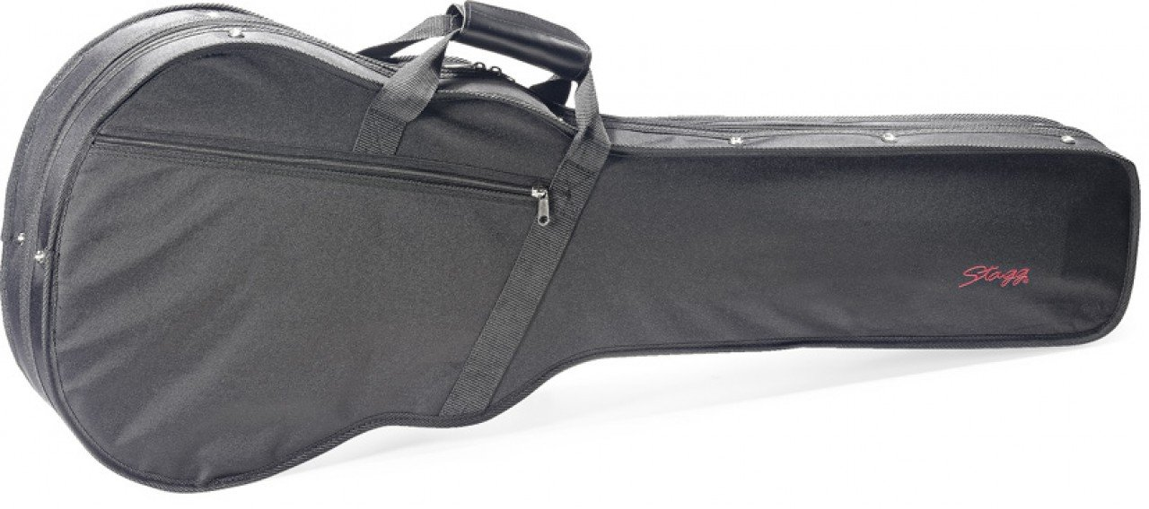 Stagg HGB2-LP Basic Foam Padded Les Paul Style Guitar Soft Case with Adjustable Shoulder Strap - Black