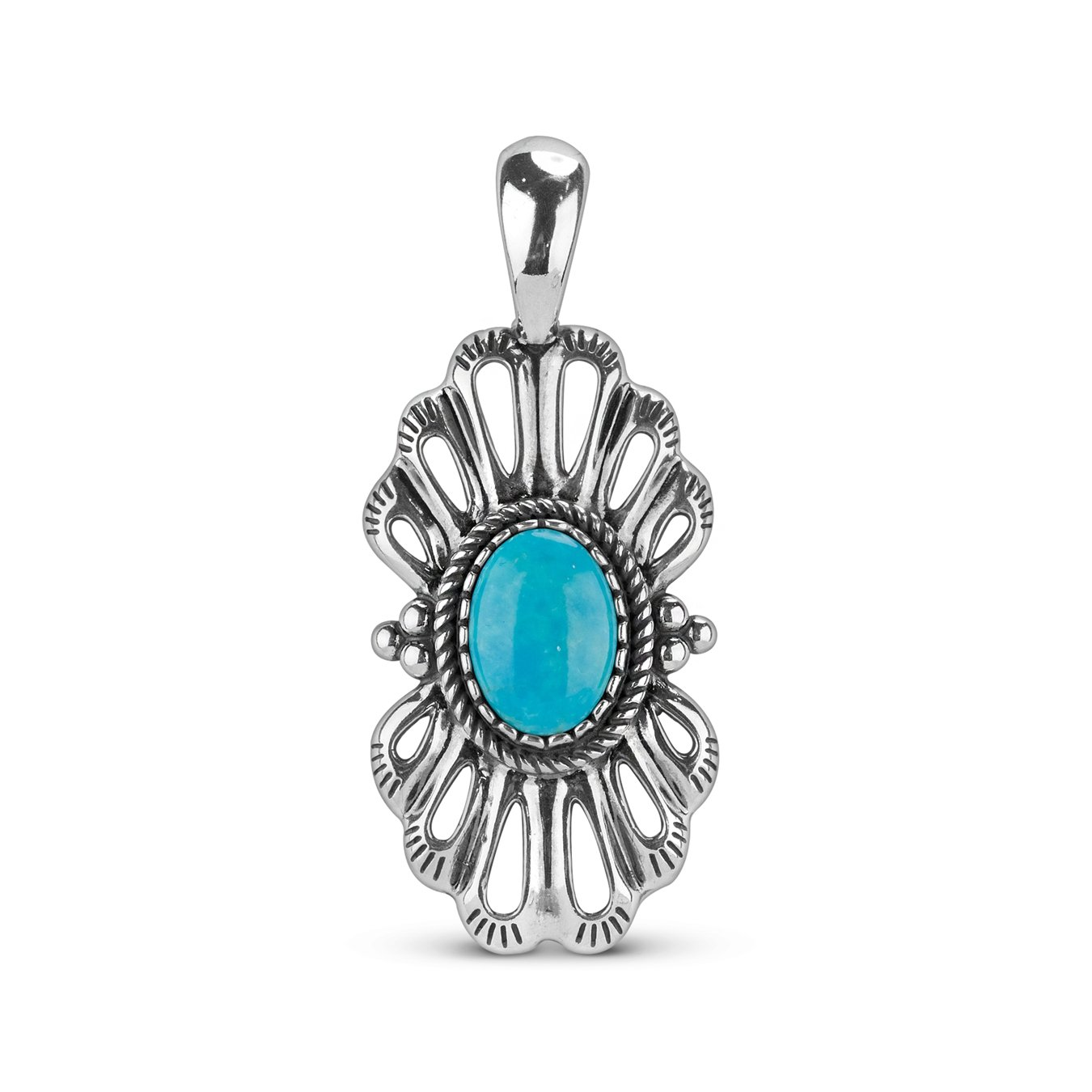 American West Sterling Silver Turquoise Pendant Enhancer Relios REL-60101145